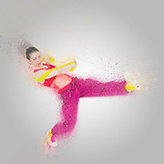 Digitally enhanced image of a Female Hip hop Dancer