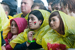 Fans wait for My Chemical Romance on the Main Stage..T in the Park on Sunday 10th July 2011. T in the Park 2011 music festival takes place from 7-10th July 2011 in Balado, Fife, Scotland..©Pic : Michael Schofield.