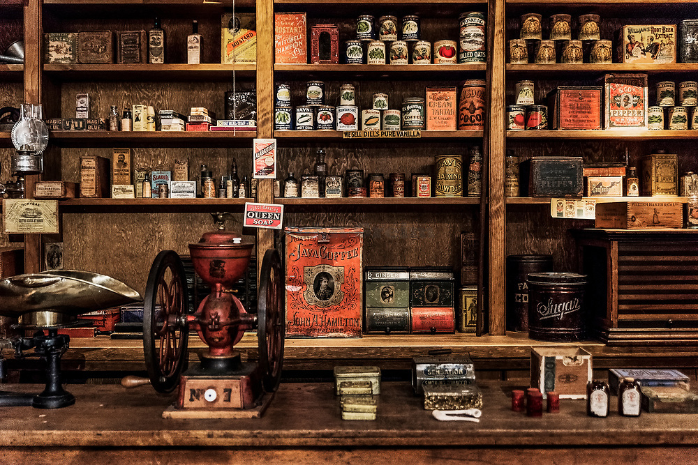 Country store recreation, Billings Farm Museum, Woodstock, Vermont, USA