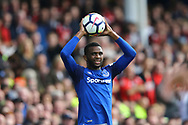 Cuco Martina of Everton takes a throw in. Premier league match, Everton vs Bournemouth at Goodison Park in Liverpool, Merseyside on Saturday 23rd September 2017.<br /> pic by Chris Stading, Andrew Orchard sports photography.