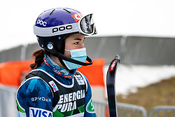 """Lila Lapajna (USA) competes during the Audi FIS Alpine Ski World Cup """"Snow Queen Trophy"""" Women's Slalom, on January 3, 2021 in Sljeme, Zagreb, Croatia. Photo by Vid Ponikvar / Sportida"""