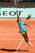 Roland Garros. Paris, France. 24 Mai 2010..La joueuse americaine Serena WILLIAMS contre Stefanie VOEGELE...Roland Garros. Paris, France. May 24th 2010..American player Serena WILLIAMS against Stefanie VOEGELE...