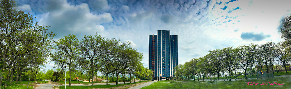 Martin Tower, Bethlehem Steel's former world headquarters in Bethlehem, Pa. on May 14, 2019. The 21-story structure is to be imploded Sunday, May 19, 2019.<br /> - Photography by Donna Fisher.<br /> - Donna Fisher Photography, LLC<br />  - donnafisherphoto.com