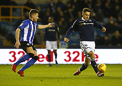 February 12, 2019 - London, England, United Kingdom - Lee Gregory of Millwall.during Sky Bet Championship match between Millwall and Sheffield Wednesday at The Den Ground, London on 12 Feb 2019. (Credit Image: © Action Foto Sport/NurPhoto via ZUMA Press)