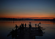 Sydney, Australia.  General Views, Sunrise, Boating Area. Sydney International Rowing Regatta. held at the Sydney International Rowing Centre, Penrith Lakes, NSW.   Thursday   21/03/2013 [Mandatory Credit. Peter Spurrier/Intersport Images]..