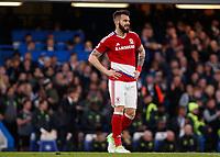 Football - 2016 / 2017 Premier League - Chelsea vs. Middlesborough<br /> <br /> A despondent looking Alvaro Negredo of Middlesborough  after Chelsea take the lead at Stamford Bridge.<br /> <br /> COLORSPORT/DANIEL BEARHAM