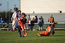 Christie Murray of Bristol Academy takes a shot at goal - Mandatory byline: Dougie Allward/JMP - 07966386802 - 27/08/2015 - FOOTBALL - Stoke Gifford Stadium -Bristol,England - Bristol Academy Women FC v Oxford United Women - FA WSL Continental Tyres Cup