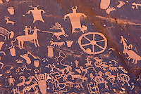 Ancient native American Petroglyphs of Newspaper Rock State Historic Monument Utah