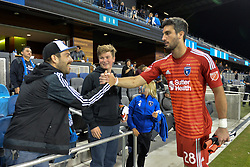 August 29, 2018 - San Jose, California, United States - San Jose, CA - Wednesday August 29, 2018: Andrew Tarbell, fans during a Major League Soccer (MLS) match between the San Jose Earthquakes and FC Dallas at Avaya Stadium. (Credit Image: © John Todd/ISIPhotos via ZUMA Wire)