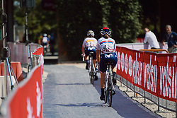 Jelena Eric (SRB) at Strade Bianche - Elite Women 2020, a 136 km road race starting and finishing in Siena, Italy on August 1, 2020. Photo by Sean Robinson/velofocus.com