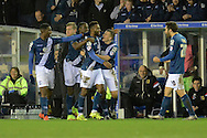 Birmingham City midfielder Jacques Maghoma celebrates goal during the Sky Bet Championship match between Birmingham City and Milton Keynes Dons at St Andrews, Birmingham, England on 28 December 2015. Photo by Alan Franklin.