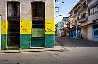 HAVANA, CUBA - CIRCA MAY 2017:  Colorful building on the streets of Havana.