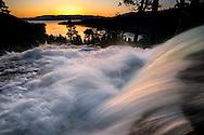 Sunrise at Eagle Falls above Emerald Bay, near South Lake Tahoe, California