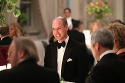 The Duke of Cambridge attends Dinner at the Royal Palace, Oslo, Norway and the end of the third day of his tour of Scandinavia.