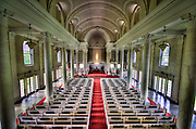 The interior of the Central Union Church in Honolulu, Hawaii.