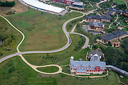 Aerial view of Epic Systems of Verona, Wisconsin, USA, a major innovator in the field of electronic medical records.