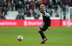 December 14, 2016 - °Stanbul, Türkiye - Andreas Beck of Besiktas in soccer match between Besiktas and Kayserispor, the first soccer match since the bombings, in Istanbul, Wednesday, Dec. 14, 2016. On Saturday's twin attacks outside and near the stadium, 44 people mostly police officers died. (Credit Image: © Tolga Adanali/Depo Photos via ZUMA Wire)