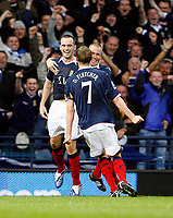 Football<br /> 05/09/2009 SCOTLAND V MACEDONIA<br /> JAMES MCFADDEN CELEBRATES SCORING SCOTLAND'S SECOND GOAL DURING THE WORLD CUP 2010 QUALIFIER AGAINST MACEDONIA AT HAMPDEN PARK.<br /> Credit: Colorsport
