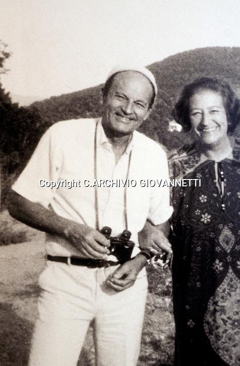 SPAZIANI MARIA LUISA CON TOURNIER MICHEAL<br />C.ARCHIVIO GIOVANNETTI