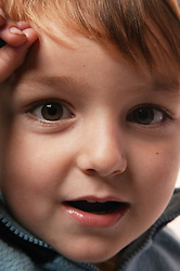 Close up portrait of a toddler,