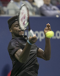 August 30, 2017 - Flushing Meadows, New York, U.S - Francis Tiafoe during his match on Day Two of the 2017 US Open with Roger Federer at the USTA Billie Jean King National Tennis Center on Monday August 29, 2017 in the Flushing neighborhood of the Queens borough of New York City. Keys defeated Mertens, 6-3, 7-6  (Credit Image: © Prensa Internacional via ZUMA Wire)