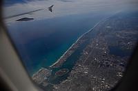 Palm Beach, Florida as seen from a Jet Blue flight leaving the city. ..Photo by Robert Caplin