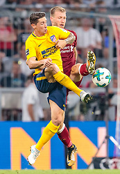 02.08.2017, Allianz Arena, Muenchen, GER, Audi Cup, FC Liverpool vs Atletico Madrid, Finale, im Bild Fernando Torres (Atletico Madrid), Ragnar Klavan (FC Liverpool) // during the Audi Cup Final Match between FC Liverpool and Atletico Madrid at the Allianz Arena, Munich, Germany on 2017/08/02. EXPA Pictures © 2017, PhotoCredit: EXPA/ JFK