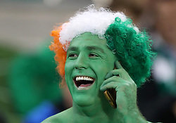A Republic of Ireland fan in fact dress during the 2018 FIFA World Cup Qualifying, Group D match at the Aviva Stadium, Dublin.