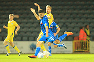 Jordan Williams shoots during the EFL Sky Bet League 1 match between Rochdale and Bristol Rovers at Spotland, Rochdale, England on 2 October 2018.