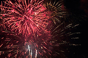 Colorful fireworks display on the Fourth of July, the nations birthday