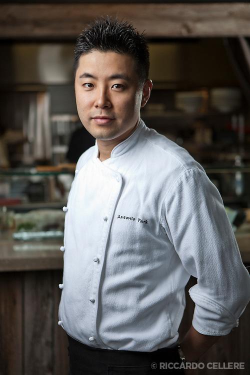 Portrait photography. Chef Antonio Park, Restaurant Park. 2013.