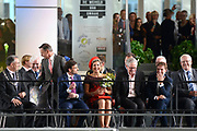 Koningin Maxima opent Markthal Rotterdam, de eerste overdekte versmarkthal in Nederland geïnspireerd op versmarkten elders in Europa.<br /> <br /> Queen Maxima opens in Rotterdam The Market Hall, the first covered market hall  in the Netherland inspired on other markets elsewhere in Europe.<br /> <br /> op de foto / On the photo: Koningin Maxima verricht de openingshandeling door een pompoen op de weegschaal te leggen.  Queen Maxima host the opening ceremony by placing a pumpkin on the scale