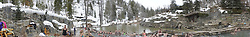 Strawberry Park Hot Springs Panorama, Steamboat Springs, Colorado, US