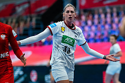 Luisa Schulze of Germany during the Women's EHF Euro 2020 match between Germany and Poland at Sydbank Arena on december 07, 2020 in Kolding, Denmark (Photo by RHF Agency/Ronald Hoogendoorn)