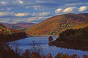 Autumn forests and lake, Sinnamahoning State Park, Cameron County, PA