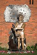 Sculpture by Paul Richardson of Saint Andrew, Capel St Andrew, near Woodbridge, Suffolk, England