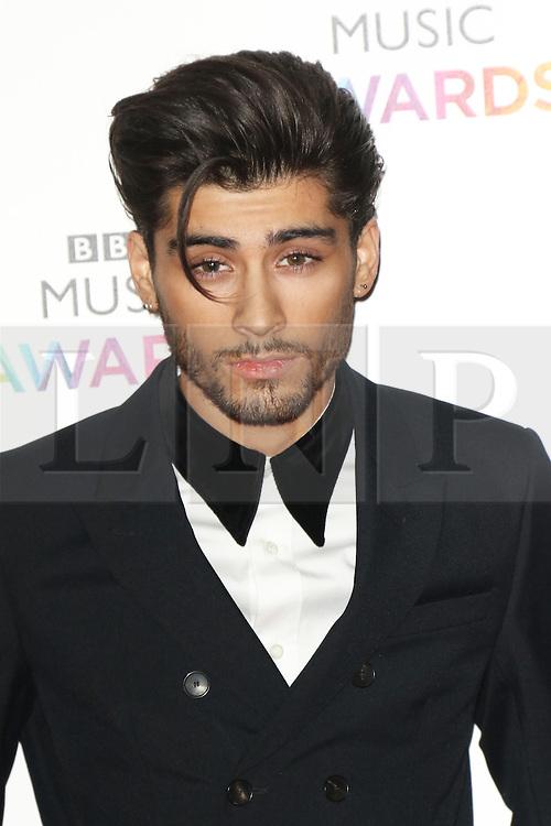 Zayn Malik has left One Direction, says the band © Licensed to London News Pictures. 11/12/2014, UK. Zayn Malik, BBC Music Awards, Earls Court Exhibition Centre, London UK, 11 December 2014<br /> Photo credit : Richard Goldschmidt/Piqtured/LNP