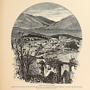 The village of Salim, opposite the eastern entrance to the Vale of Shechem, which is seen beyond the broad plain of Mukhnah. It probably represents the Salem near to which John baptized his disciples from the book Picturesque Palestine, Sinai, and Egypt By  Colonel Wilson, Charles William, Sir, 1836-1905. Published in New York by D. Appleton and Company in 1881  with engravings in steel and wood from original Drawings by Harry Fenn and J. D. Woodward Volume 1