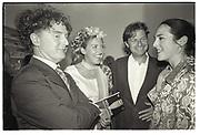 MALCOLM MCLAREN; KATRINA BOORMAN, DAN MOYNIHAN, NICOLA BRUCE? Sensation Opening. Royal Academy of Art. London.16 September 1997.