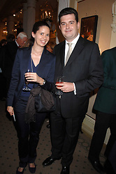 ANTHONY BAILEY and PRINCESS MARIE-THERESE VON HOHENBERG OF AUSTRIA at a private view of portraits, Still-Lives and Statues by artists Barbara Kaczmarowska Hamilton and Simon Boudard held at Partridge Fine Art Ltd, New Bond Street, London on 16th May 2007.<br /><br />NON EXCLUSIVE - WORLD RIGHTS