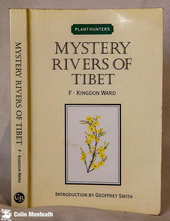 MYSTERY RIVERS OF TIBET,  Frank Kingdon-Ward, Cadogan Books, London, 1986, facsimile edition from 1923 original, New introduction by Geoffrey Smith, B&W plates, maps, VG some foxing, 316 page softbound, botanical explorations around the Tsang Po/Brahmaputra rivers/ The Great bend, Salween watersheds...inspiring travel - hard to find in any edition, $55.