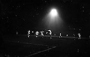 18/09/1963<br /> 09/18/1963<br /> 18 September 1963<br /> Inter Cities Fairs Cup - Shamrock Rovers v Valencia at Dalymount Park, Dublin. Piquer (Valencia) concedes a corner as J. Mooney (Rovers) advances on him.