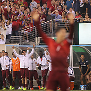 Portugal players and fans celebrate a goal during the Portugal V Ireland International Friendly match in preparation for the 2014 FIFA World Cup in Brazil. MetLife Stadium, Rutherford, New Jersey, USA. 10th June 2014. Photo Tim Clayton
