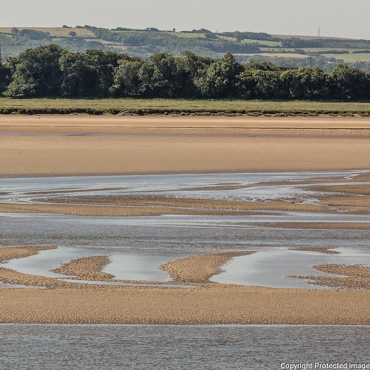 River Taw at low tide, Barnstaple, Devon.