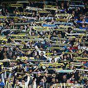Fenerbahce's Supporters during their Turkish superleague soccer match Fenerbahce between Eskisehirspor at Sukru Saracaoglu stadium in Istanbul Turkey on Sunday 14 April 2013. Photo by Aykut AKICI/TURKPIX