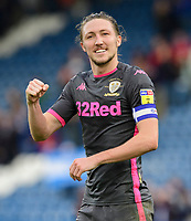 Leeds United's Luke Ayling celebrates at the end of the game<br /> <br /> Photographer Chris Vaughan - CameraSport<br /> <br /> The EFL Sky Bet Championship - Huddersfield Town v Leeds United - Saturday 7th December 2019 - John Smith's Stadium - Huddersfield<br /> <br /> World Copyright © 2019 CameraSport. All rights reserved. 43 Linden Ave. Countesthorpe. Leicester. England. LE8 5PG - Tel: +44 (0) 116 277 4147 - admin@camerasport.com - www.camerasport.com