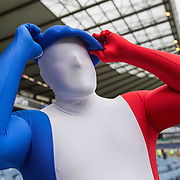 Scotland v France French rugby fans before the match.  March 13, 2016