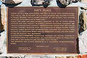 Interpretive plaque at Navy Beach, Mono Lake, Mono Basin National Scenic Area, California USA