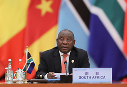 BEIJING, Sept. 4, 2018  South African President Cyril Ramaphosa, the co-chair of the Forum on China-Africa Cooperation (FOCAC), chairs the second phase of the roundtable meeting of the 2018 FOCAC Beijing Summit at the Great Hall of the People in Beijing, capital of China, Sept. 4, 2018.  mcg) (Credit Image: © Ju Peng/Xinhua via ZUMA Wire)