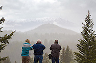 Photographers, Beartoot Pass, snowy mountains, snowstorm, photography tour